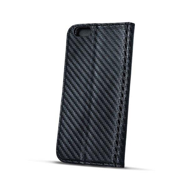Sāniski atverams maciņš Mocco Smart Carbon Book Case priekš Huawei P10 Plus, Melns cena
