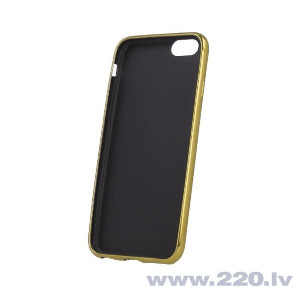 Mocco Carbon silikona apvalks priekš Apple iPhone 7 Zeltains cena