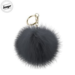 Piekariņš Beeyo Soft Fluffy Ring the Pompom & Smartphone Finger Holder and Stand Gadget , melns/zeltains