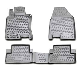 Guminiai kilimėliai 3D NISSAN Qashqai 2007-2014, 4 pcs. /L50064G /gray