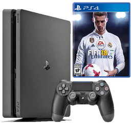 Sony PlayStation 4 Slim, 1TB + Fifa 18