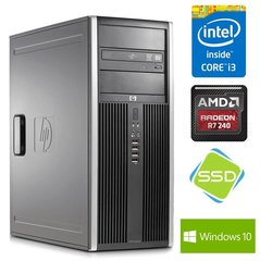 HP 8200 Elite TW i3-2100 8GB 120SSD+500GB R7 240 4GB DVD WIN10Pro