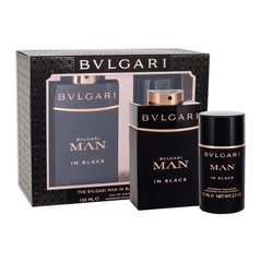 Komplekts Bvlgari Man In Black: edp 100 ml + dezodorants 75 ml