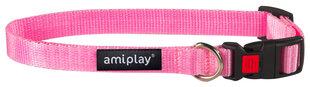 Amiplay регулируемый ошейник Basiс, M, розовый цена и информация | Поводки, ошейники и подтяжки для собак | 220.lv