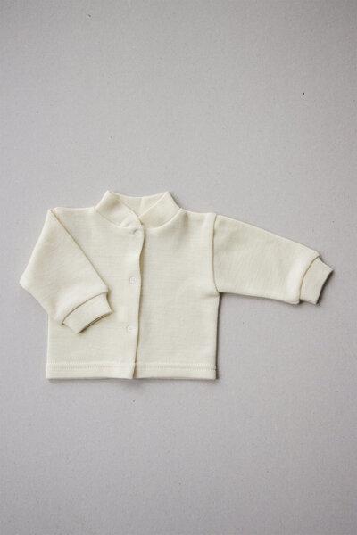 Korlėja merino vilnas krekls zīdaiņiem, aizpogājāms priekšpusē
