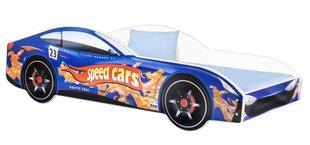 Gulta ar matraci Car BED-BLUE-4, 140x70 cm, zila