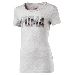 Puma T-krekls Style Graphic Tee, Light Gray Heather