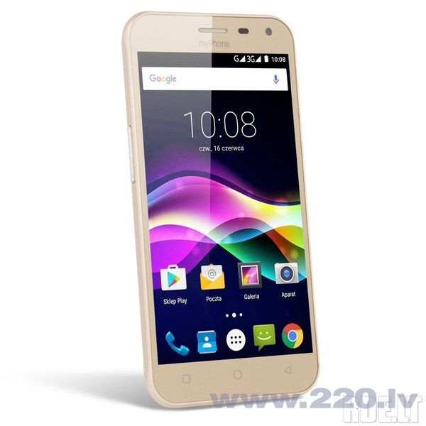MyPhone FUN5 Dual, LV Золотой