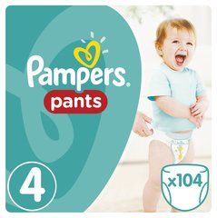 Подгузники Pampers Pants Mega Box, 8-14 кг, 104 шт. цена и информация | Подгузники и аксесуары | 220.lv