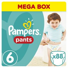 Подгузники Pampers Pants Mega Box, 15+ кг, 88 шт. цена и информация | Подгузники и аксесуары | 220.lv