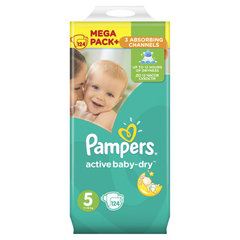 Подгузники Pampers Mega Box, 11-18 кг, 124 шт. цена и информация | Подгузники и аксесуары | 220.lv