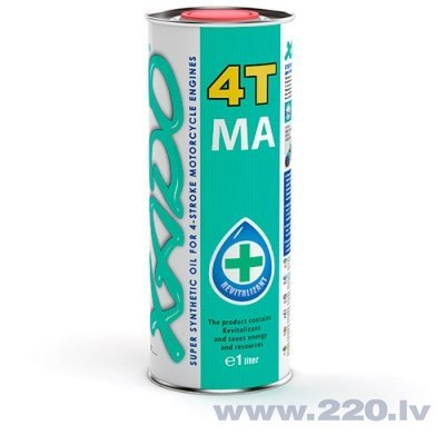 XADO Atomic OIL motoreļļa 10W-40 4T MA Super Synthetic (1L)