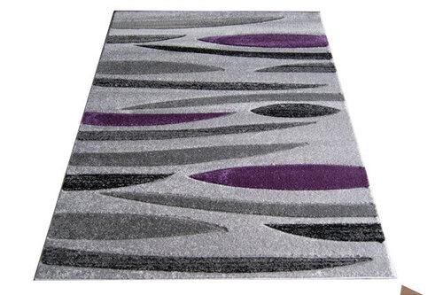Paklājs Fantazija 01 Grey/violet, 200 x 290 cm