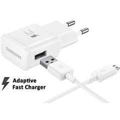 Samsung EP-TA20EWE Quick Charge Universal USB / 15W / 2A Charger + ECB-DU4EWE Micro USB Cable White (OEM) cena un informācija | Lādētāji un adapteri | 220.lv