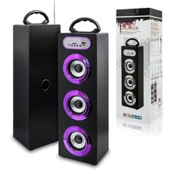 Mocco Tower Portable Speaker Bluetooth 4.0 / 15W / 360 Surround / Micro SD / USB / Remote / FM / Purple