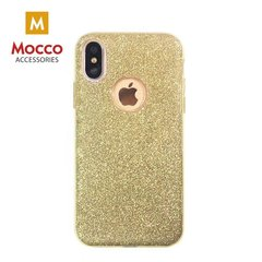 Mocco Gradient Back Case Silicone Case With Glittering For Apple iPhone X Gold