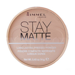 Компактная пудра Rimmel London Stay Matte Long Lasting 14 г цена и информация | Пудры, бронзаторы, румяна | 220.lv