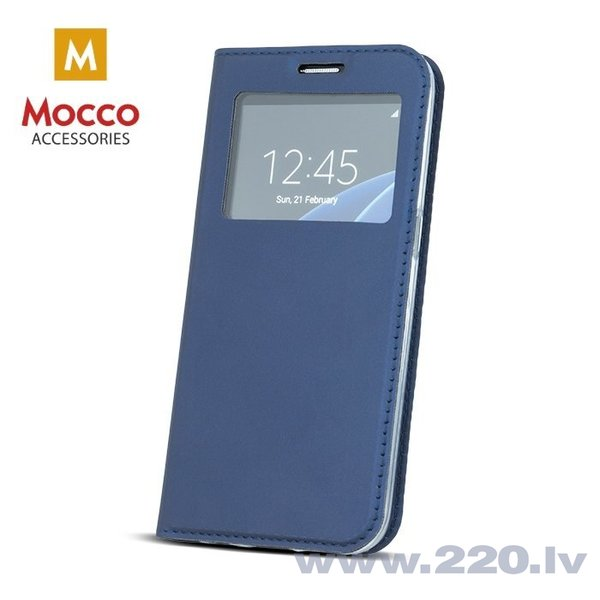 Mocco Smart Look Magnet Book Case With Window For Huawei P9 Lite Blue