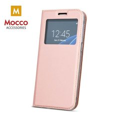 Mocco Smart Look Magnet Book Case With Window For Sony Xperia XZ Pink