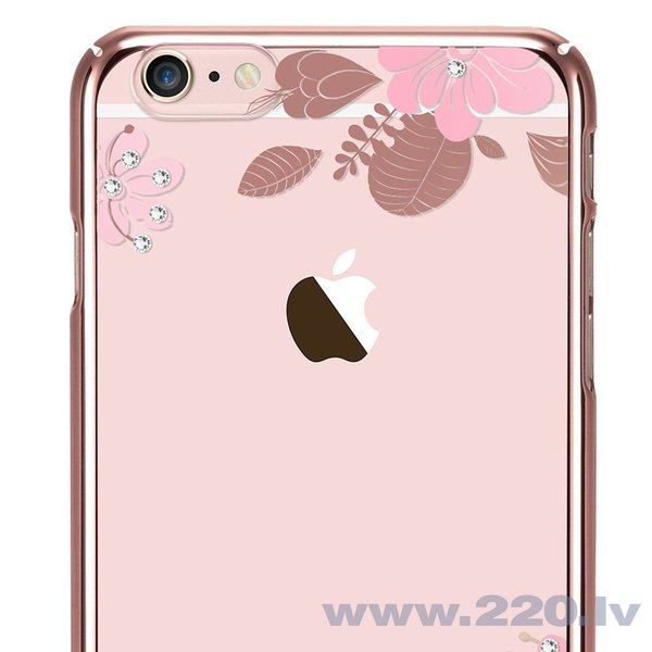 X-Fitted Plastic Case With Swarovski Crystals for Apple iPhone 6 / 6S Pink / Pink Flower cena