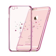 X-Fitted Plastic Case With Swarovski Crystals for Apple iPhone 6 / 6S Pink / Starry Sky