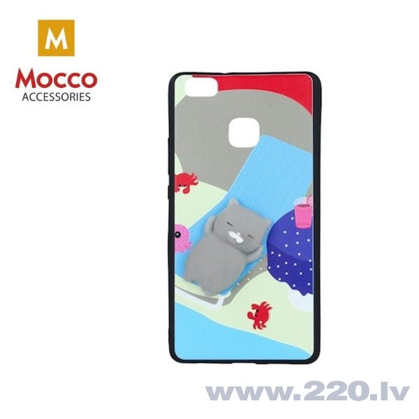 Mocco 4D Silikone Back Case For Mobile Phone With Grey Cat For Huawei P10 Lite
