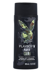 Гель для душа и шампунь  2in1 Playboy Play It Wild 400 ml