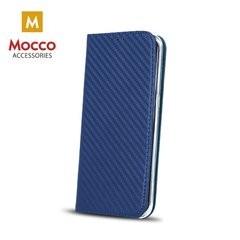 Mocco Smart Carbon Book Case For Samsung A320 Galaxy A3 (2017) Blue
