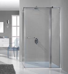 Stūra dušas kabīne Sanplast Prestige III KNDJ2/PR III 90x120s, profils balts