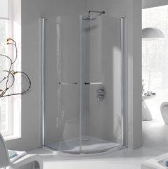 Stūra dušas kabīne Sanplast Prestige III KP2/PR III 90s, profils matēts grafīts