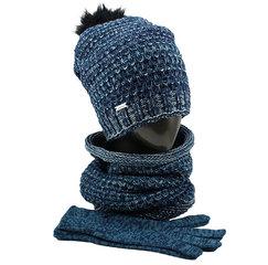 Cepure, šalle un cimdi sievietēm MK107 cena un informācija | Cepures | 220.lv