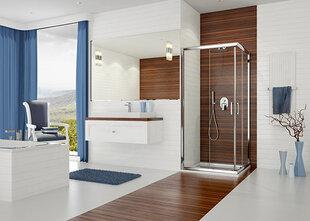 Stūra dušas kabīne Sanplast TX KN/TX5b 80x100s, matēts sudraba profils, stikls Cora