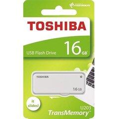 Карта памяти Toshiba U203, 16GB USB 2.0, белый