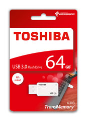Atmiņas karte Toshiba U303, 64GB USB 3.0, balta