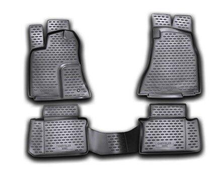 3D CHRYSLER 300C 2004-2012, 4 pcs. /L09001 cena un informācija | Gumijas paklājiņi pēc auto modeļiem | 220.lv