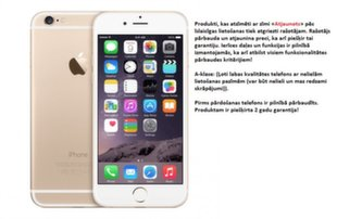 Apple iPhone 6 16GB Gold MG5Y2LL/A (Atjaunots)