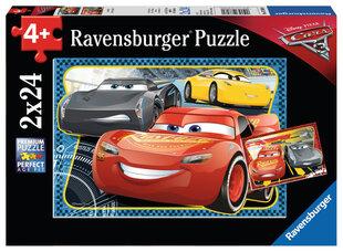 Пазл Ravensburger Cars (Молния Маквин) 2x24 д. цена и информация | Пазлы, 3D пазлы | 220.lv