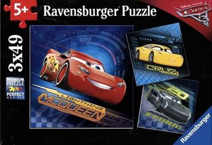 Пазлы Ravensburger Cars (Молния Маквин), 3x49 части цена и информация | Пазлы, 3D пазлы | 220.lv
