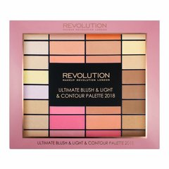 Sejas modelēšanas palete Makeup Revolution Ultimate Blush & Light & Contour Palette 2018