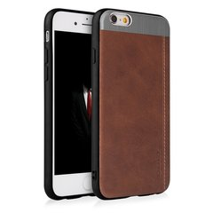 Qult Luxury Slate Back Case Silicone Case for Apple iPhone X Brown