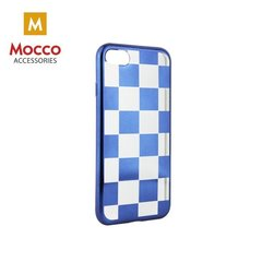 Mocco ElectroPlate Chess Silicone Case for Samsung A320 Galaxy A3 (2017) Blue
