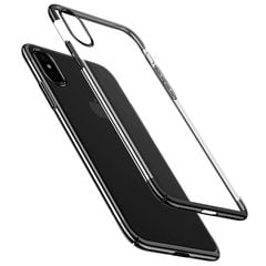 Baseus Glitter Case Impact Silicone Case for Apple iPhone X Transparent - Black