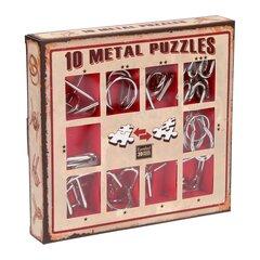 Puzles komplekts,10 Metall Puzzle, sarkans, 473358