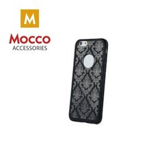 Mocco Ornament Back Case Silicone Case for Apple iPhone X Black