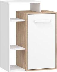 Комод Rio L1D, белый/дуб цена и информация | Комоды, ночные шкафчики | 220.lv