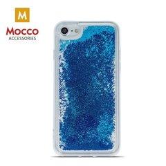 Aizsargvāciņš Mocco Liquid Silicone piemērots Apple iPhone 7 / 8, caurspīdīgs-zils