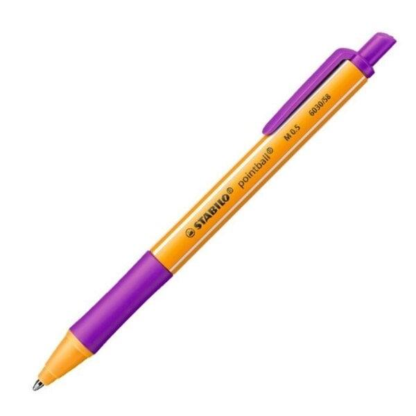 Ручка Stabilo Pointball 0,5 мм фиолетовая