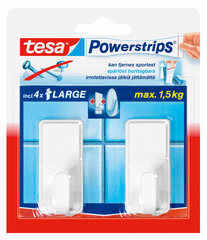 Tesa āķi PowerStrips Large Classic balti 2gab   cena un informācija | Tesa āķi PowerStrips Large Classic balti 2gab   | 220.lv