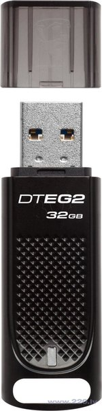 Zibatmiņa Kingston DTEG2 64GB, USB 3.0, melna