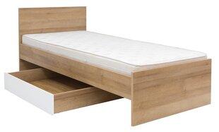Veļas kaste gultai Balder 90, balta cena un informācija | Gultas | 220.lv